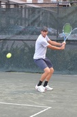 Joshua R. teaches tennis lessons in New Braunfels , Tx